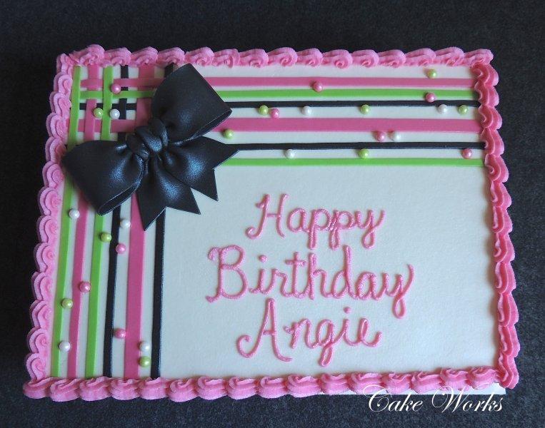 Happy Th Birthday Angie Cake