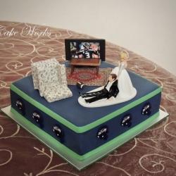 Sport Fanatic Grooms Cake
