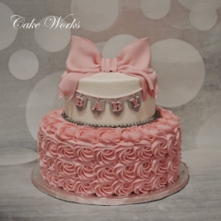 Pretty in Pink Rosettes Baby Shower