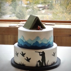 Hunting Camping Theme Groom Cake