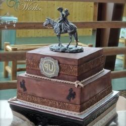 Western Theme Groom's Cake in Chocolate