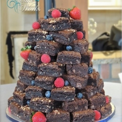 Brownie Tower with Fruit