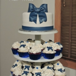 Bow Cupcake Tower