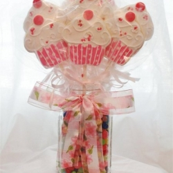 Cupcake Cookie Pop Bouquet