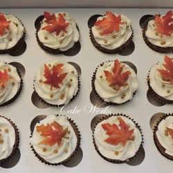 Maple Leaf Cupcakes