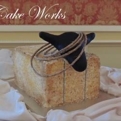 Roping Hay Bale Grooms Cake