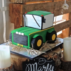 Tractor Grooms Cake