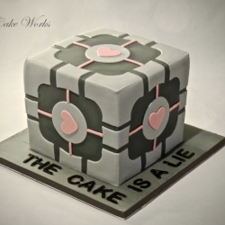 Portal Cube - The Cake Is A Lie