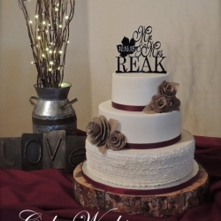 Buttercream Ruffles and Burlap Flowers