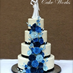 Cascade of Blues on Buttercream