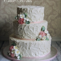 Sugar Bouquets on Rustic Buttercream