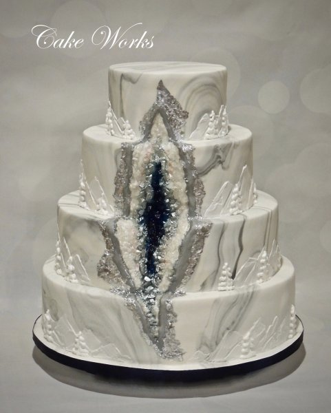 Wedding Cake Photo Gallery Cake Works - Geode Wedding Cake